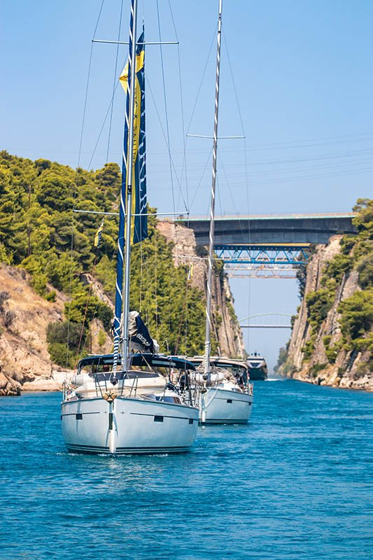 Saronic Gulf and Corinth Canal Flotilla from Corinth